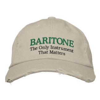 Gorra bordado divertido de la música del barítono gorra bordada