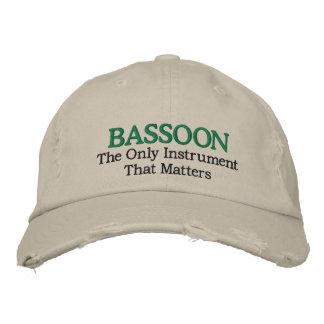 Gorra bordado divertido de la música del Bassoon Gorras Bordadas