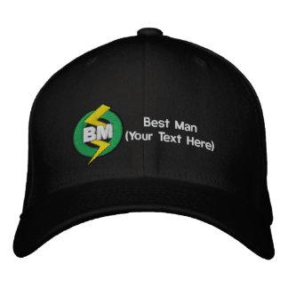 Gorra bordado el mejor hombre, personalizable gorra de béisbol bordada
