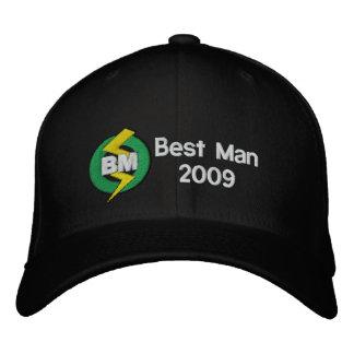Gorra bordado el mejor hombre, personalizable gorras de béisbol bordadas