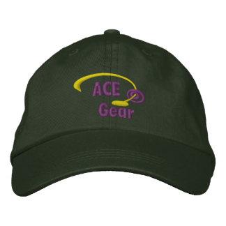 Gorra bordado engranaje púrpura del as y amarillo gorras de béisbol bordadas