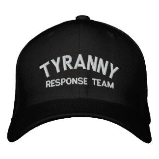 Gorra bordado equipo de la respuesta de la tiranía gorra de béisbol bordada