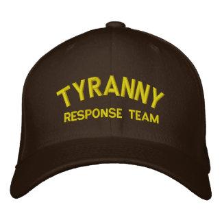 Gorra bordado equipo de la respuesta de la tiranía gorras bordadas