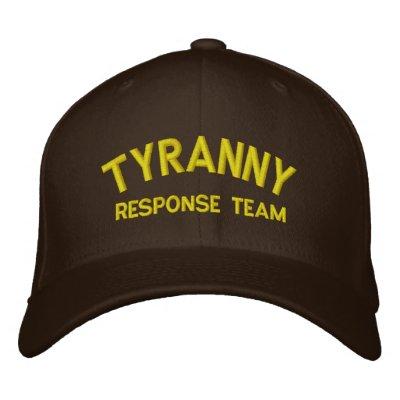 Gorra bordado equipo de la respuesta de la tiranía gorra de beisbol bordada