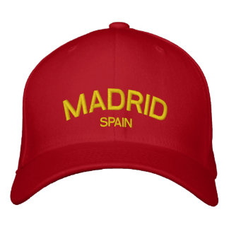Gorra bordado España de Madrid Gorras Bordadas