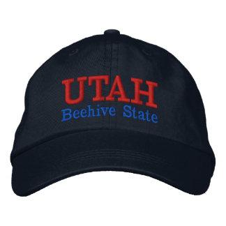 Gorra bordado estado de la colmena de Utah Gorra Bordada