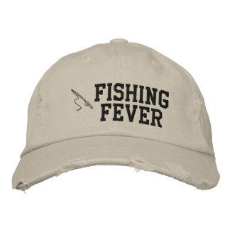 Gorra bordado fiebre de la pesca gorros bordados