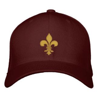 Gorra bordado flor de lis del oro gorra de béisbol bordada