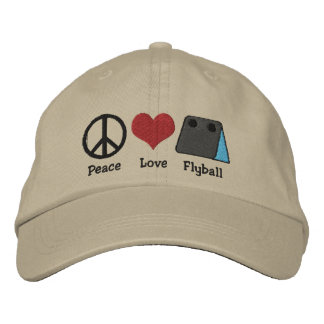 Gorra bordado Flyball del amor de la paz Gorra De Beisbol
