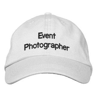 Gorra bordado fotógrafo del acontecimiento gorras bordadas