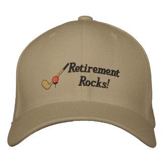 Gorra bordado golf del retiro gorras de béisbol bordadas