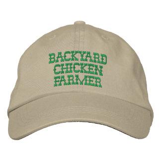 Gorra bordado granjero del pollo del patio trasero gorras bordadas