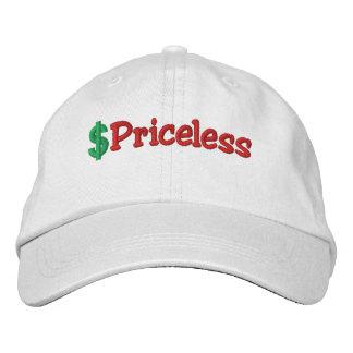 Gorra bordado inestimable gorra de béisbol bordada