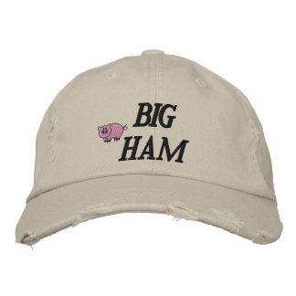 Gorra bordado jamón grande gorras de béisbol bordadas