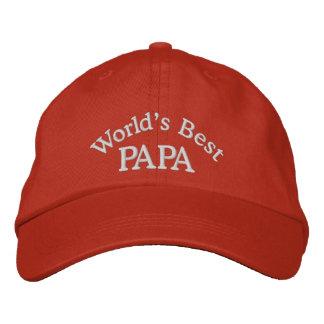 Gorra bordado la mejor papá de los mundos gorra de béisbol
