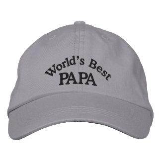 Gorra bordado la mejor papá de los mundos gorras bordadas