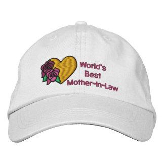 Gorra bordado la mejor suegra de los mundos gorras de béisbol bordadas