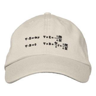 Gorra, bordado, las ecuaciones del maxwell gorra de beisbol