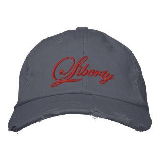 Gorra bordado libertad (rojo) gorra de béisbol bordada