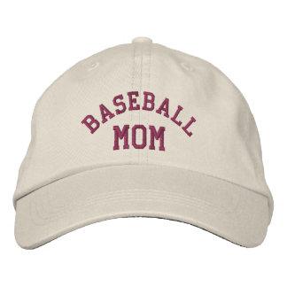 Gorra bordado lindo de la mamá del béisbol gorros bordados