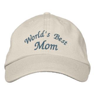 Gorra bordado lindo de la mejor mamá del mundo gorra de beisbol