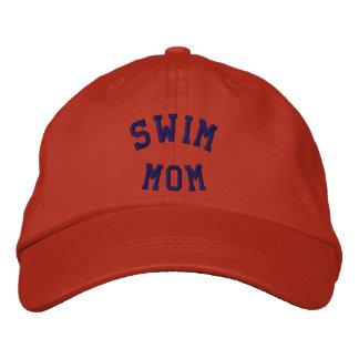 Gorra bordado mamá de la nadada gorra de béisbol bordada
