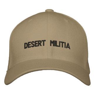 Gorra bordado milicia del desierto gorra de béisbol