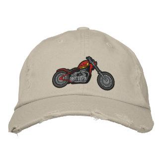 Gorra bordado motocicleta de encargo gorras de béisbol bordadas