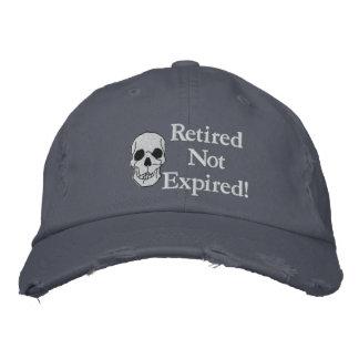 Gorra bordado no expirado jubilado gorra bordada