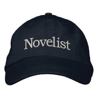 Gorra bordado novelista para los escritores nuevos gorra de beisbol bordada