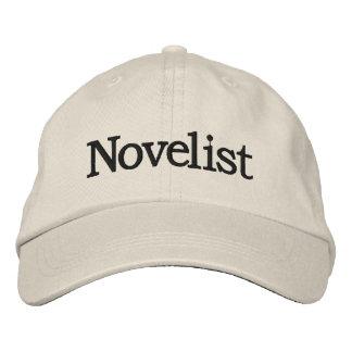 Gorra bordado novelista para los escritores nuevos gorra de béisbol bordada