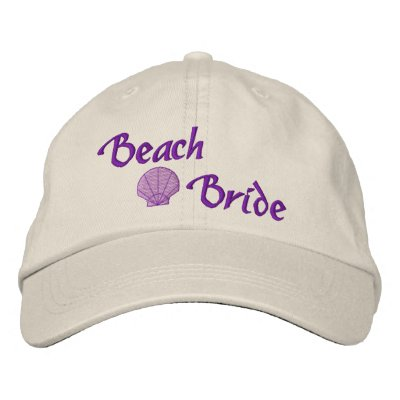 Gorra bordado novia de la playa gorras bordadas