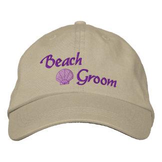 Gorra bordado novio de la playa gorro bordado