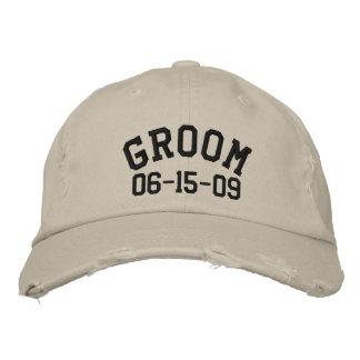 Gorra bordado novio de Personalizable Gorra De Beisbol