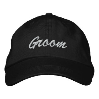 Gorra bordado novio gorra de béisbol