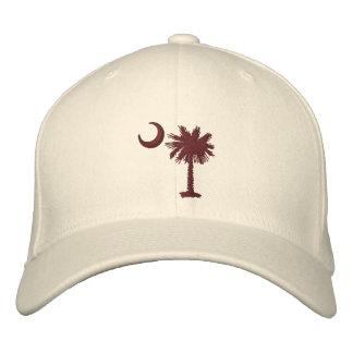 Gorra bordado Palmetto del granate Gorras De Béisbol Bordadas