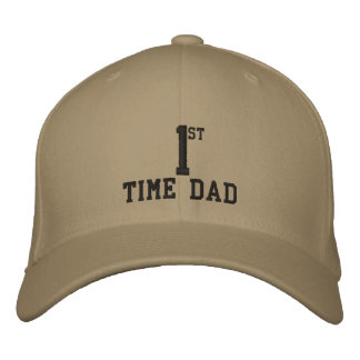 Gorra bordado papá de la primera vez gorra de béisbol bordada