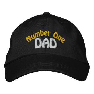 Gorra bordado papá del número uno gorra de beisbol bordada