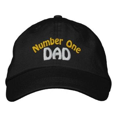 Gorra bordado papá del número uno gorra bordada