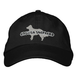 Gorra bordado pastor inglés de la silueta gorra de beisbol bordada