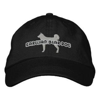 Gorra bordado perro carelio del oso de la silueta gorra de béisbol