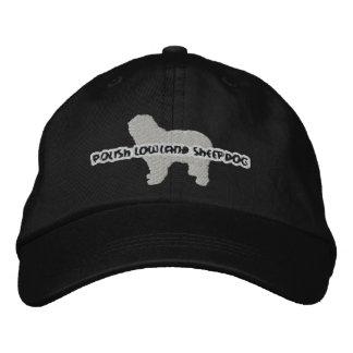Gorra bordado perro pastor polaco de la tierra baj gorras de beisbol bordadas