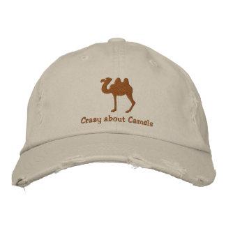 Gorra bordado personalizable del camello bactriano gorras bordadas