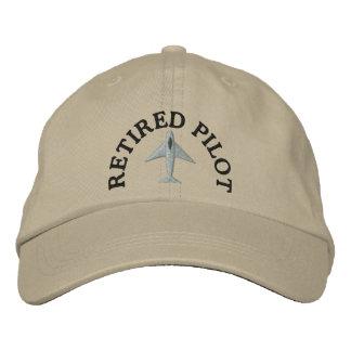 Gorra bordado piloto jubilado gorra de béisbol bordada