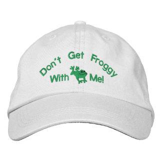 Gorra bordado rana divertida gorras bordadas