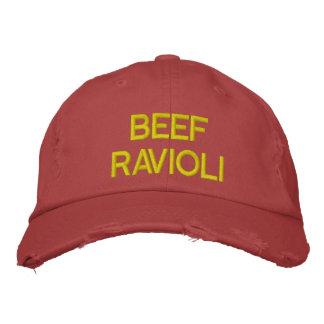 Gorra bordado raviolis de la carne de vaca gorra de beisbol