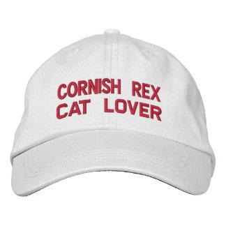 Gorra bordado raza de Cornualles del gato de Rex Gorra De Beisbol Bordada