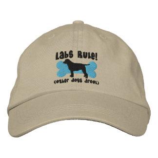 Gorra bordado regla de los laboratorios gorra bordada