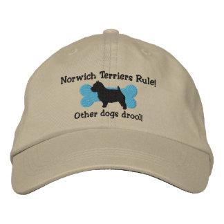 Gorra bordado regla de los terrieres de Norwich Gorras De Béisbol Bordadas