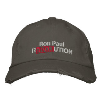 Gorra bordado revolución de Ron Paul Gorra De Béisbol